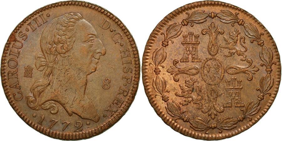 World Coins - Coin, Spain, Charles III, 8 Maravedis, 1772, Segovia, , Copper