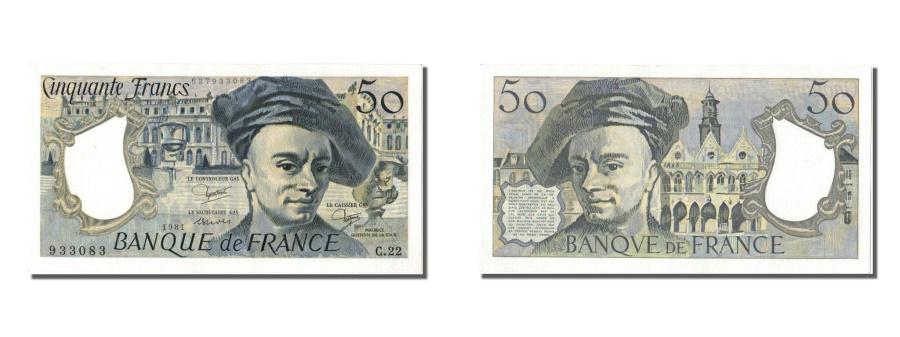World Coins - France, 50 Francs, 50 F 1976-1992 ''Quentin de La Tour'', 1981, KM #152b,...
