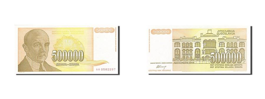 World Coins - Yugoslavia, 500,000 Dinara, 1994, 1994, KM:143a, UNC(63)
