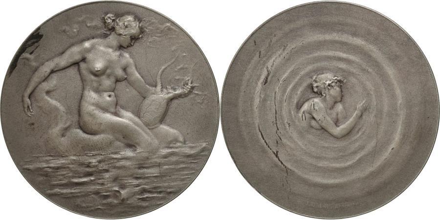 World Coins - France, Medal, SAMF, Amphitrite, 1901, Desbois, , Silver
