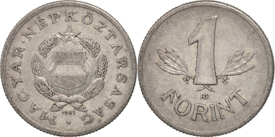 World Coins - Hungary, Forint, 1967, Budapest, , Silver, KM:555a