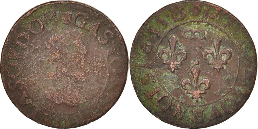 World Coins - FRENCH STATES, DOMBES, Double Tournois, 1635, Trévoux, , KM:32