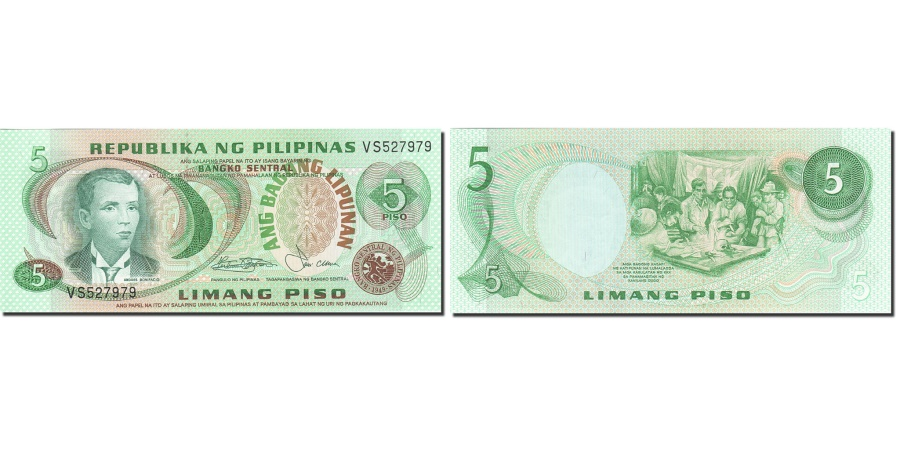 World Coins - Philippines, 5 Piso, 1978, KM:160b, UNC(65-70)