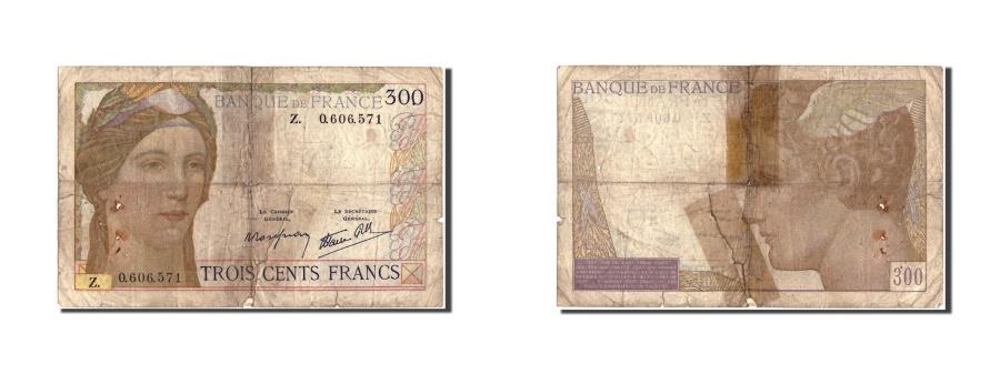 World Coins - France, 300 Francs, 300 F 1938-1939, 1939, KM:87a, Undated (1939), VG(8-10)