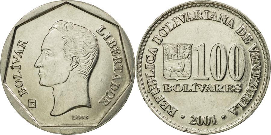 Coin Venezuela 100 Bolivares 2001