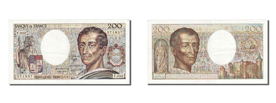 World Coins - France, 200 Francs, 200 F 1981-1994 ''Montesquieu'', 1987, KM #155b, AU(50-53),.