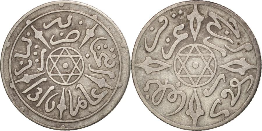 World Coins - Morocco, 'Abd al-Aziz, 1/2 Dirham, 1898, Paris, , Silver, KM:9.2