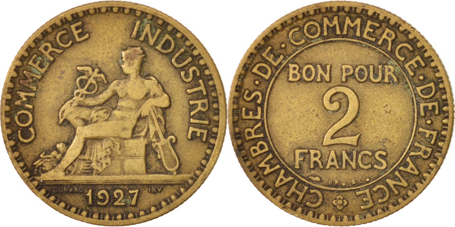 France chambre de commerce 2 francs 1927 paris vf 20 for Chambre de commerce internationale paris arbitrage