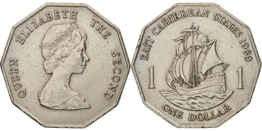 World Coins - East Caribbean States, Elizabeth II, Dollar, 1989, , KM:20