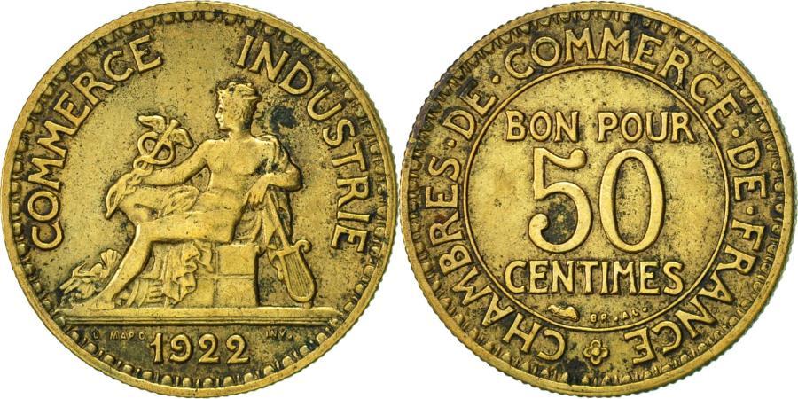 France chambre de commerce 50 centimes 1922 paris - Chambre de commerce france ...