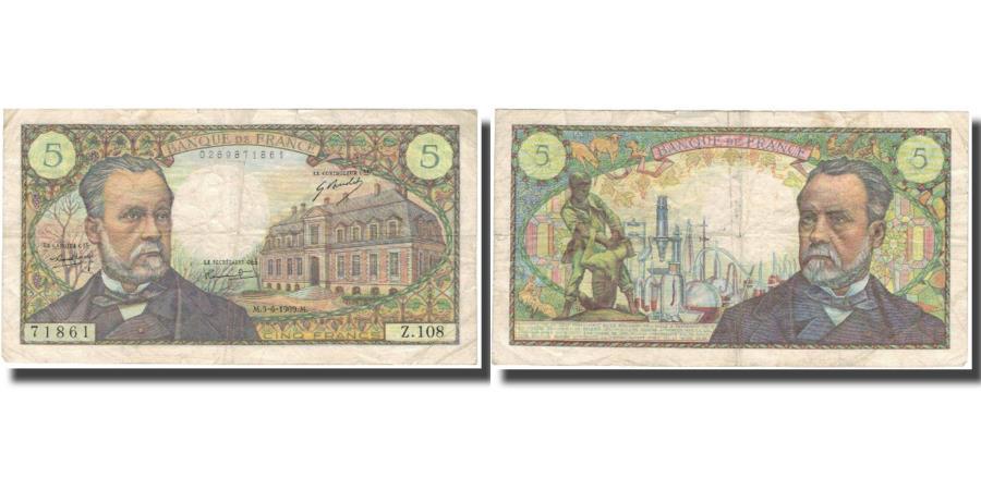 World Coins - France, 50 Francs, 5 F 1966-1970 ''Pasteur'', 1969, 1969-06-05, VF(20-25)