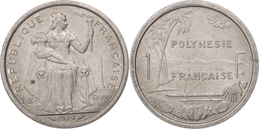 World Coins - French Polynesia, Franc, 1977, Paris, , Aluminum, KM:11
