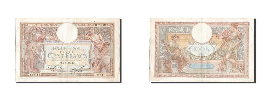 World Coins - France, 100 Francs, 100 F 1908-1939 ''Luc Olivier Merson'', 1938, KM #86b,...