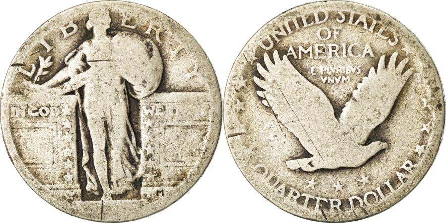 US Coins - Coin, United States, Standing Liberty Quarter, Quarter, Uncertain date, U.S.