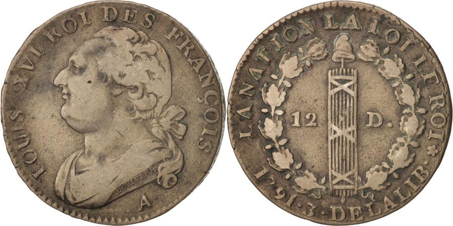 World Coins - France, 12 deniers françois, 12 Deniers, 1791, Paris, , Bronze