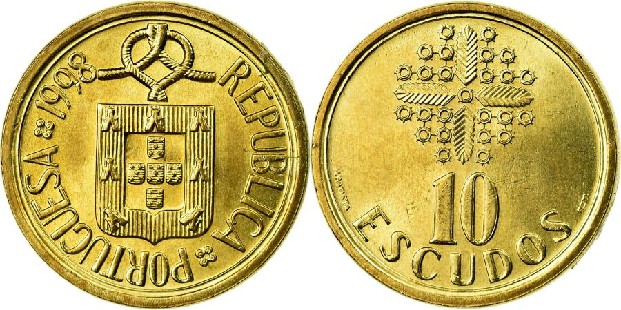 World Coins - Coin, Portugal, 10 Escudos, 1989, , Nickel-brass, KM:633
