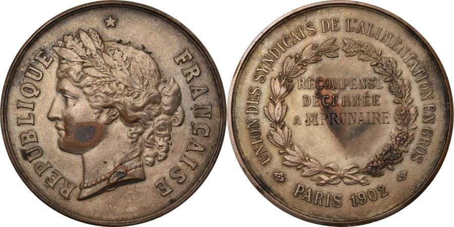 World Coins - France, Medal, French Third Republic, Business & industry, 1902, AU(50-53)