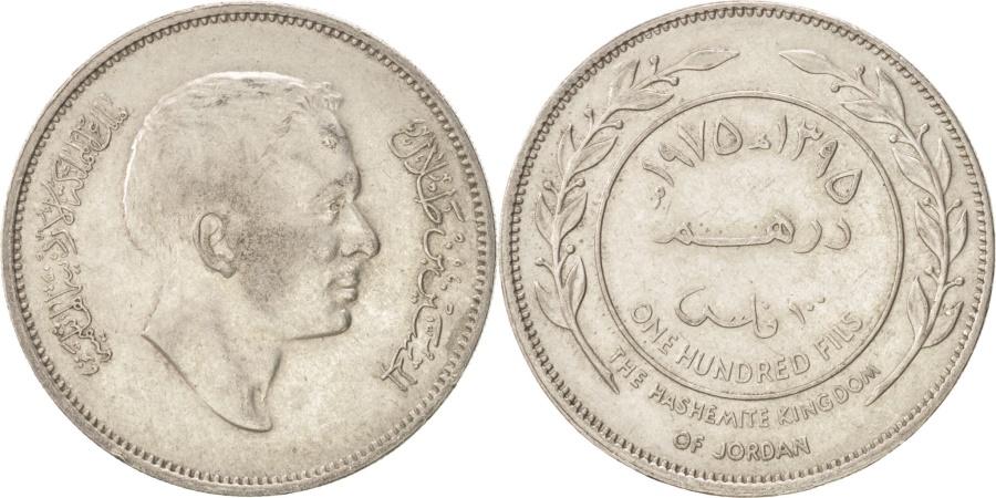 World Coins - JORDAN, 100 Fils, Dirham, 1975, KM #19, , Copper-Nickel, 30, 11.93