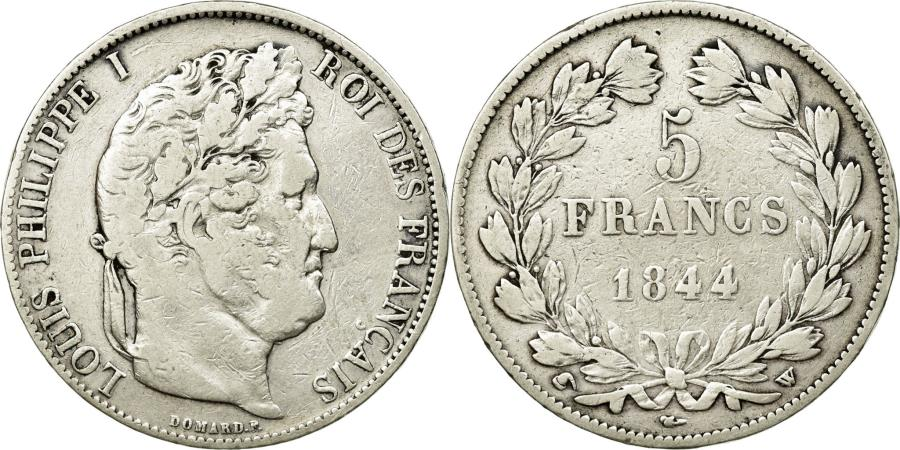 World Coins - Coin, France, Louis-Philippe, 5 Francs, 1844, Lille, VF(20-25), Silver