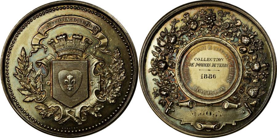 World Coins - France, Medal, Société d'Horticulture de Corbeil, Seine et Oise, 1886