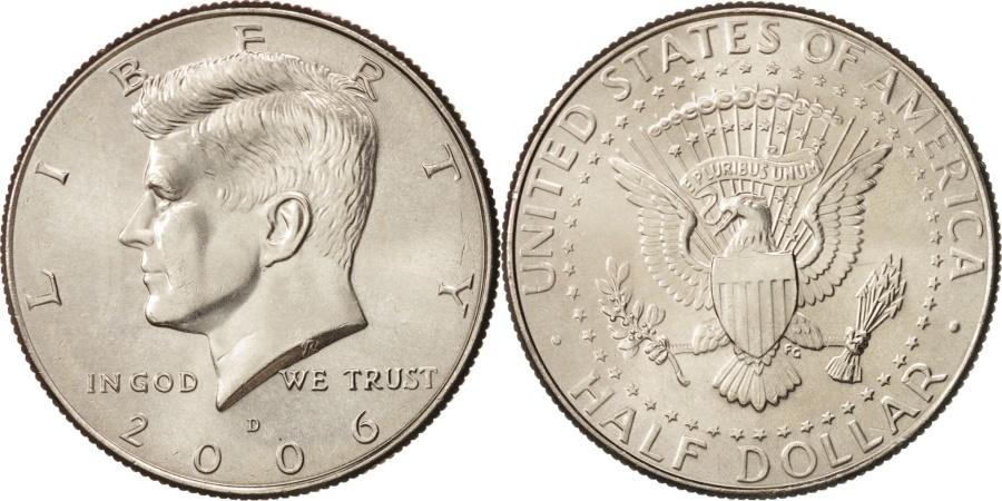 US Coins - United States, Kennedy Half Dollar, 2006, Denver, MS, KM:A202b