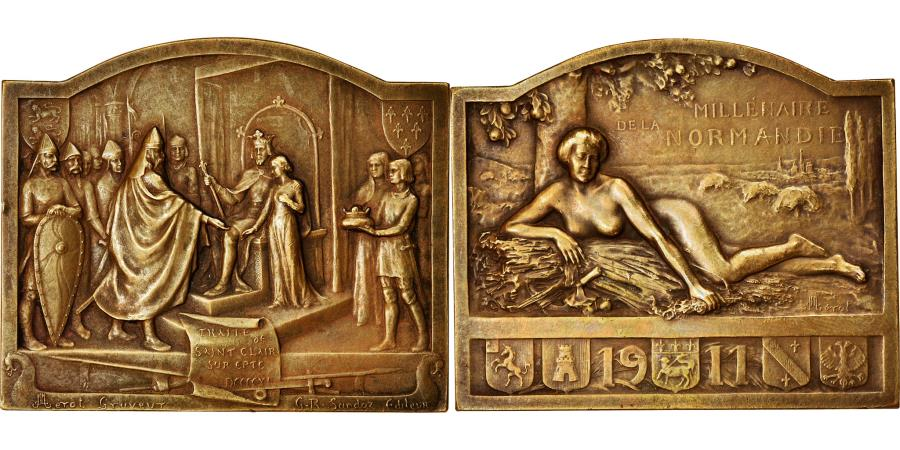 World Coins - France, Medal, Millénaire de la Normandie, Traité de Saint Clair sur Epte