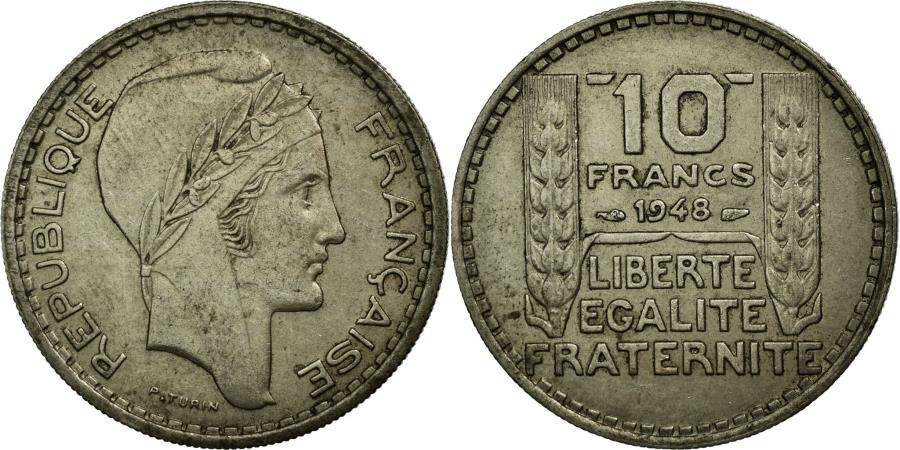 World Coins - Coin, France, Turin, 10 Francs, 1948, EF(40-45), Copper-nickel, KM:909.1
