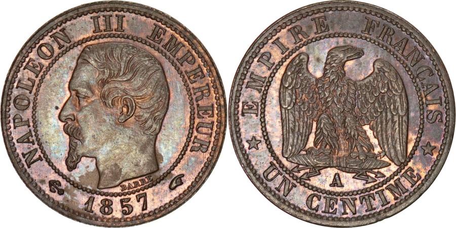 World Coins - FRANCE, Napoléon III, Centime, 1857, Paris, KM #775.1, , Bronze, Gadour