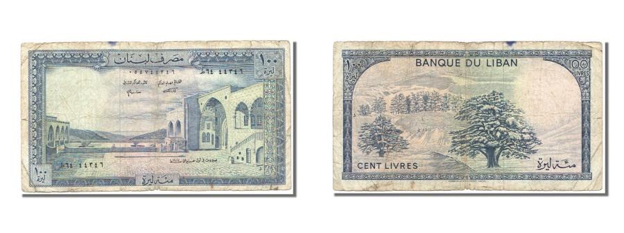 World Coins - Lebanon, 100 Livres, 1977, KM #66b, VF(30-35)
