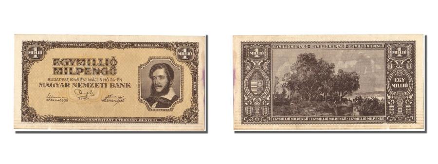 World Coins - Hungary, 1 Million Milpengö, 1946, KM #128, 1946-05-24, EF(40-45)