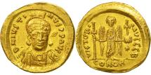 Justin I, Solidus, Constantinople, AU(55-58), Gold, Sear:56