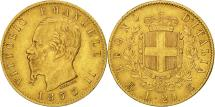 World Coins - Italy, Vittorio Emanuele II, 20 Lire, 1873, Milan, EF(40-45), Gold, KM:10.3
