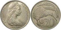 World Coins - New Zealand, Elizabeth II, 20 Cents, 1967, MS(63), Copper-nickel, KM:36.1