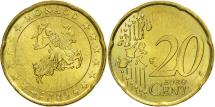 World Coins - Monaco, 20 Euro Cent, 2003, MS(63), Brass, KM:171