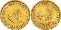 World Coins - South Africa, 2 Rand, 1962, MS(63), Gold, KM:64