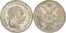 Austria, Franz Joseph I, 20 Kreuzer, 1870, MS(64), Silver, KM:2212