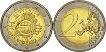 Slovenia, 2 Euro, 10 years euro, 2012, MS(63), Bi-Metallic