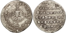 Ancient Coins - John I Tzimisces, Miliaresion, 969-976 AD, Constantinople, Silver, Sear 1792