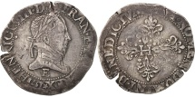 World Coins - Henri III, Franc au Col Plat, 1578, Tours, VF(30-35), Silver, Sombart:4714