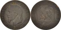 World Coins - France, Napoleon III, 5 Centimes, 1863, Paris, VF(20-25), Bronze, KM 797.1