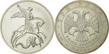 World Coins - Russia, 3 Roubles, 2010, St. Petersburg, MS(65-70), Silver