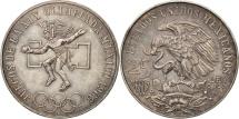 World Coins - Mexico, 25 Pesos, 1968, Mexico City, AU(50-53), Silver, KM:479.1