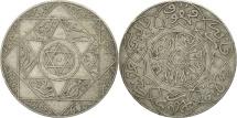 Morocco, 'Abd al-Aziz, 2-1/2 Dirhams, 1899, Paris, EF(40-45), Silver, KM:11.2