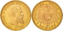 World Coins - German States, WURTTEMBERG, Wilhelm II, 20 Mark, 1900, Freudenstadt, MS(60-62)
