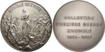 World Coins - France, Medal, Bataille de l'Yzer, History, MS(65-70), Silvered bronze