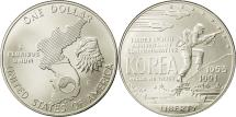 Us Coins - United States, Dollar, Korean War, 1991, Denver, MS(65-70), Silver, KM:231