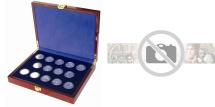 World Coins - Box, Premium, Wood, for 27 x 10 Euro Regions, Safe:5748