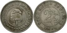 World Coins - Colombia, 2-1/2 Centavos, 1881, Heaton,Birmingham,EF(40-45),Copper-nikel, KM 180