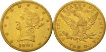 Us Coins - United States, Coronet Head, $10, 1901, San Francisco, AU(50-53), Gold, KM:102