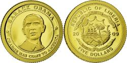 World Coins - Liberia, 5 Dollars, 2009, KM #New, , Gold, 0.50